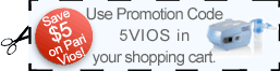 Use Promotion  Code 5VIOS to receive $5 off the Pari Vios